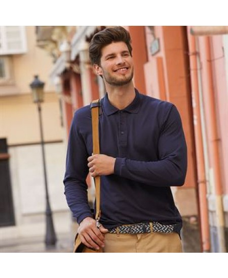SS258 Premium long sleeve polo