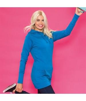 JH005 Girlie longline hoodie
