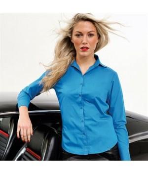 PR300 Women's poplin long sleeve blouse