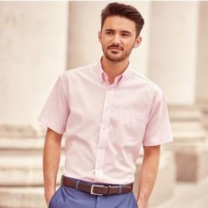 J933M Short sleeve easycare Oxford shirt