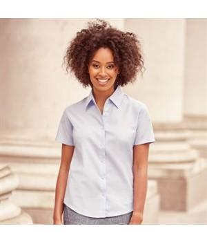 J933F Women's short sleeve Oxford shirt