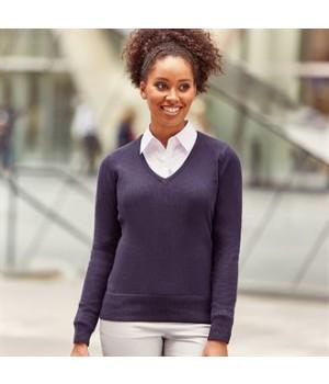 J710F Women's v-neck knitted sweater