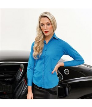 PR300 Women's poplin long sleeve blouse